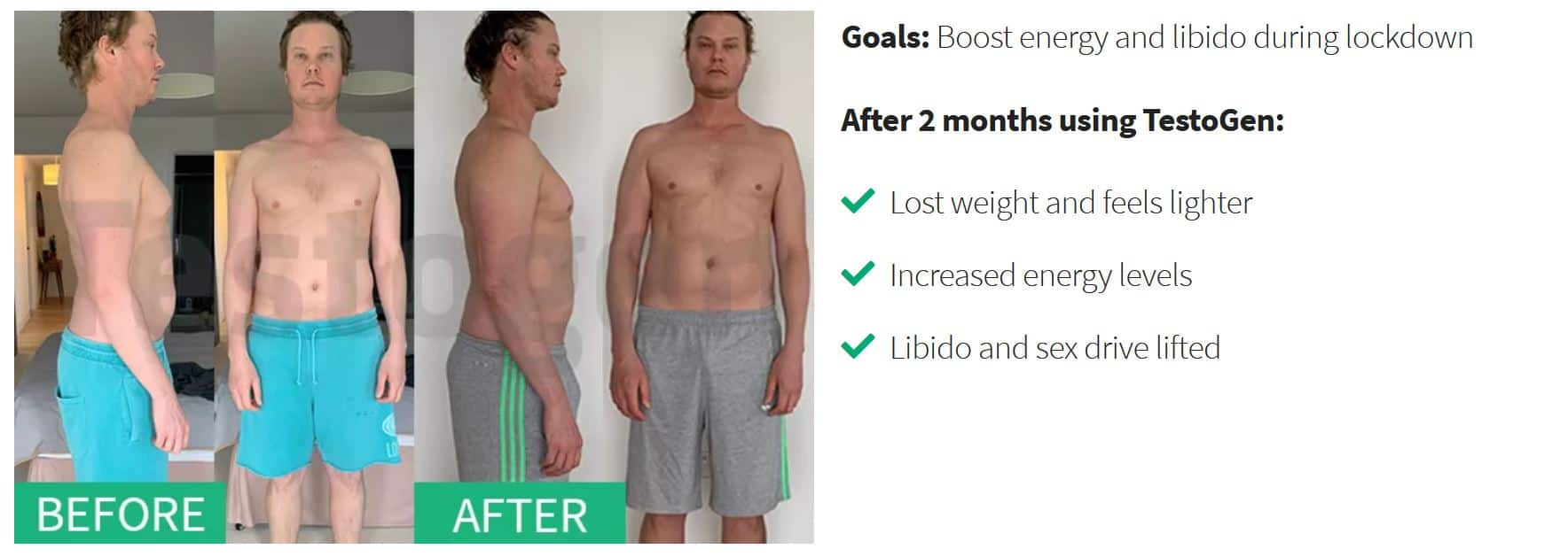 And before testosterone after booster Before and